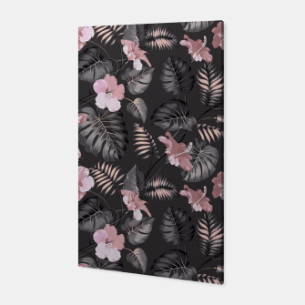 Miniatur Night garden in pink bloom Canvas, Live Heroes