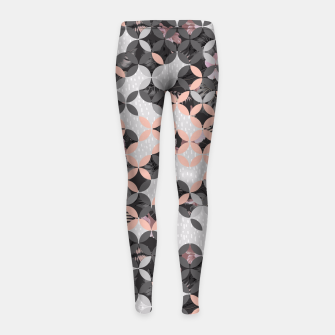 Miniatur Mosaic patterned and flowering I Leggings para niña, Live Heroes
