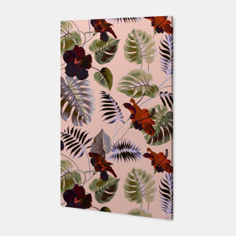 Thumbnail image of Tropical botanical pattern pink Canvas, Live Heroes