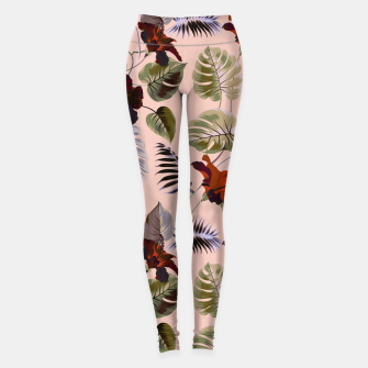 Thumbnail image of Tropical botanical pattern pink Leggings, Live Heroes