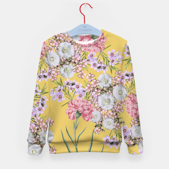 Miniatur Natural Beauty - Floral Print Kid's Sweater, Live Heroes