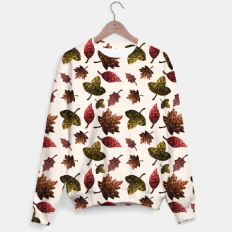 Thumbnail image of Sparkly leaves fall autumn sparkles pattern Sweater, Live Heroes