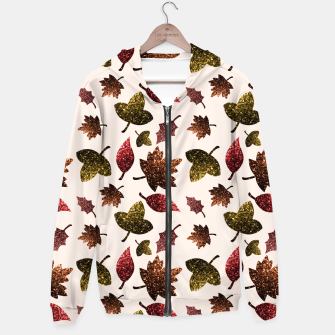 Miniaturka Sparkly leaves fall autumn sparkles pattern Hoodie, Live Heroes