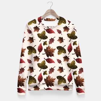 Thumbnail image of Sparkly leaves fall autumn sparkles pattern Fitted Waist Sweater, Live Heroes
