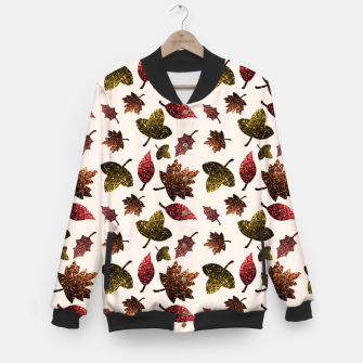 Thumbnail image of Sparkly leaves fall autumn sparkles pattern Baseball Jacket, Live Heroes