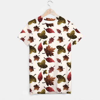 Thumbnail image of Sparkly leaves fall autumn sparkles pattern T-shirt, Live Heroes
