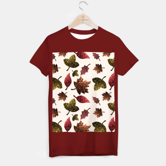 Thumbnail image of Sparkly leaves fall autumn sparkles pattern T-shirt regular, Live Heroes