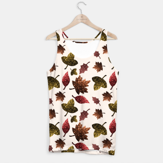 Miniaturka Sparkly leaves fall autumn sparkles pattern Tank Top, Live Heroes