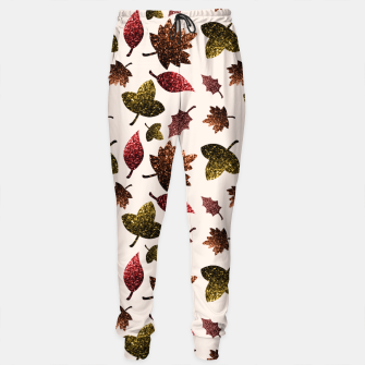 Thumbnail image of Sparkly leaves fall autumn sparkles pattern Sweatpants, Live Heroes