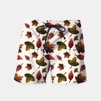 Thumbnail image of Sparkly leaves fall autumn sparkles pattern Swim Shorts, Live Heroes