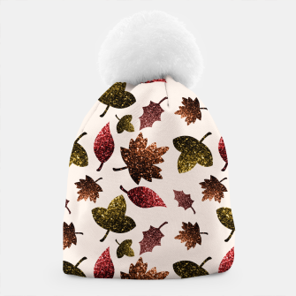 Thumbnail image of Sparkly leaves fall autumn sparkles pattern Beanie, Live Heroes