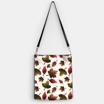 Thumbnail image of Sparkly leaves fall autumn sparkles pattern Handbag, Live Heroes