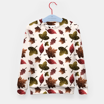 Thumbnail image of Sparkly leaves fall autumn sparkles pattern Kid's Sweater, Live Heroes