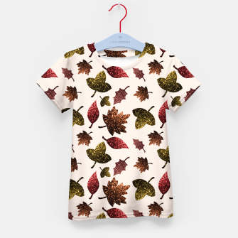 Thumbnail image of Sparkly leaves fall autumn sparkles pattern Kid's T-shirt, Live Heroes