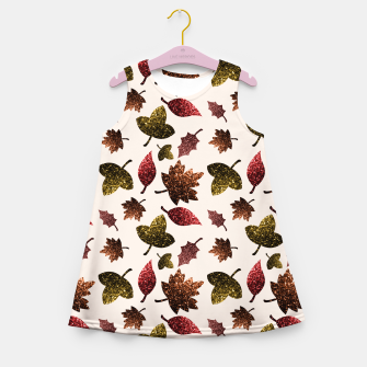 Thumbnail image of Sparkly leaves fall autumn sparkles pattern Girl's Summer Dress, Live Heroes