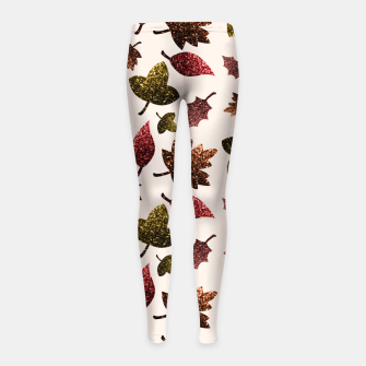 Thumbnail image of Sparkly leaves fall autumn sparkles pattern Girl's Leggings, Live Heroes