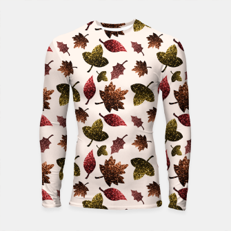 Thumbnail image of Sparkly leaves fall autumn sparkles pattern Longsleeve Rashguard , Live Heroes