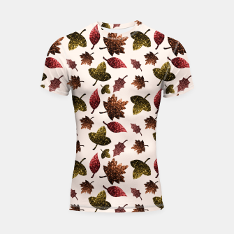 Thumbnail image of Sparkly leaves fall autumn sparkles pattern Shortsleeve Rashguard, Live Heroes