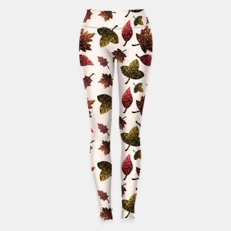 Thumbnail image of Sparkly leaves fall autumn sparkles pattern Leggings, Live Heroes