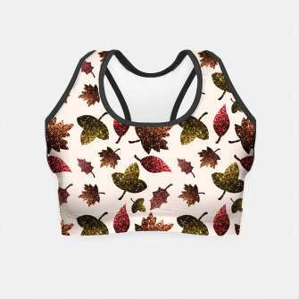 Thumbnail image of Sparkly leaves fall autumn sparkles pattern Crop Top, Live Heroes