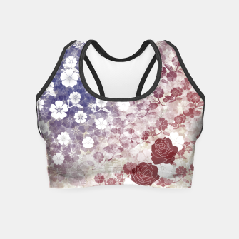 Miniatur the Stars and Stripes thank you America  Crop Top, Live Heroes