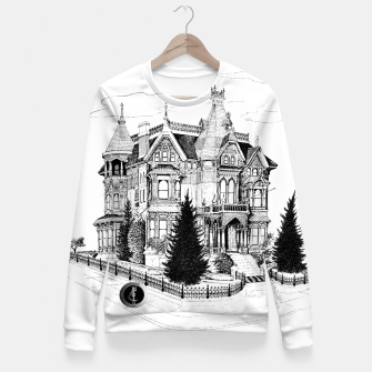 Thumbnail image of SublowGrim City Ghost House Ladies Fitted Sweater, Live Heroes