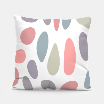 Thumbnail image of Colorful pastel pebbles Pillow, Live Heroes