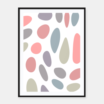 Thumbnail image of Colorful pastel pebbles Framed poster, Live Heroes