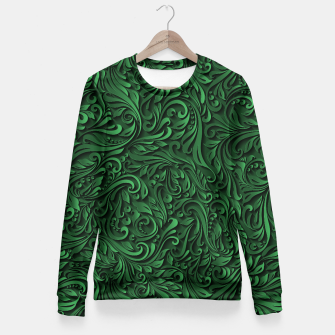 Thumbnail image of floral pattern Fitted Waist Sweater, Live Heroes