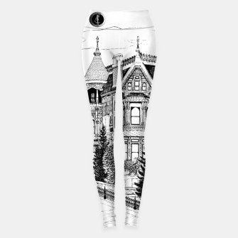 Thumbnail image of SublowGrim City Ghost House Ladies Gym Leggings, Live Heroes