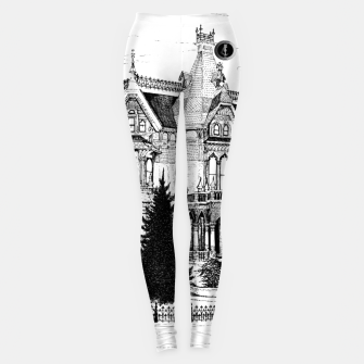 Thumbnail image of SublowGrim City Ghost House Ladies Comfort Leggings, Live Heroes