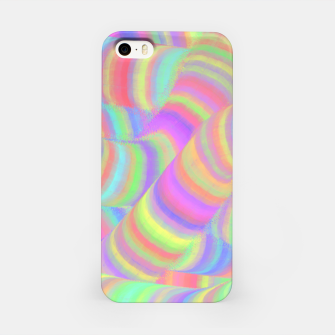 pastel worms iPhone Case miniature