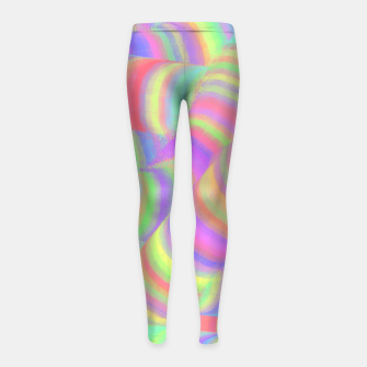 pastel worms Girl's Leggings miniature