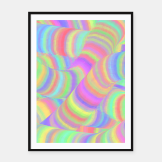pastel worms Framed poster miniature
