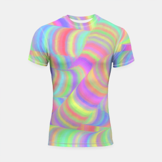 pastel worms Shortsleeve Rashguard miniature