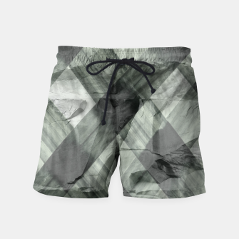 Miniaturka green pattern Swim Shorts, Live Heroes