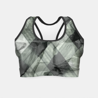 Miniaturka green pattern Crop Top, Live Heroes