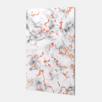 Miniatur Marble Texture with Copper Splatter 041 Canvas, Live Heroes