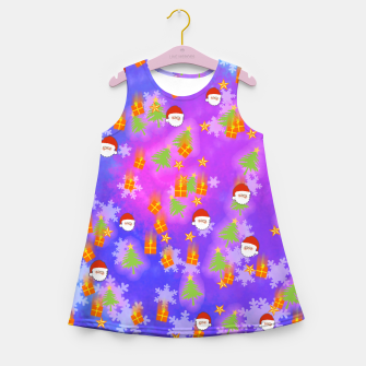 It's Snowing Christmas!! Girl's Summer Dress obraz miniatury