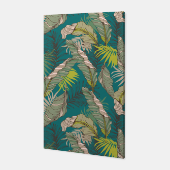 Miniatur Drawing of wild tropical jungle Canvas, Live Heroes