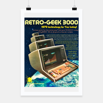 Thumbnail image of Retro Geek 3000 Poster, Live Heroes