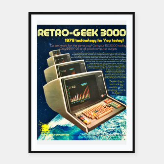 Retro Geek 3000 Framed poster thumbnail image