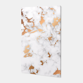Miniatur Marble Texture with Gold Splatter 040 Canvas, Live Heroes