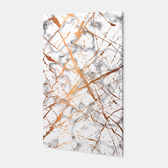 Miniatur Marble Texture and Gold Splatter 039 Canvas, Live Heroes