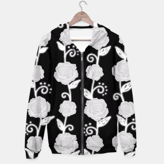 Thumbnail image of Black and white roses Hoodie, Live Heroes