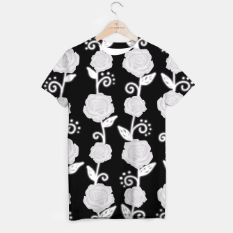 Thumbnail image of Black and white roses T-shirt, Live Heroes