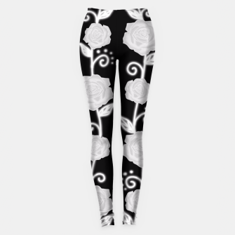 Thumbnail image of Black and white roses Leggings, Live Heroes