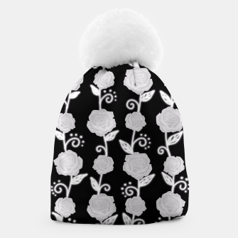 Thumbnail image of Black and white roses Beanie, Live Heroes