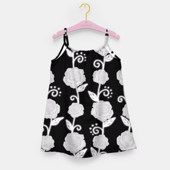 Thumbnail image of Black and white roses Girl's Dress, Live Heroes