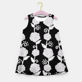 Thumbnail image of Black and white roses Girl's Summer Dress, Live Heroes